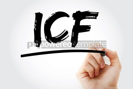 Business: ICF - intracellular fluid acronym with marker medical concept b #17983