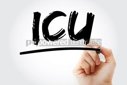 Business: ICU - Intensive Care Unit acronym with marker medical concept b #17984
