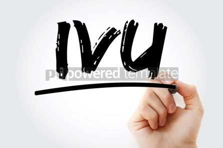 Business: IVU - intravenous urography acronym with marker medical concept #17986