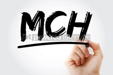 Business: MCH - Mean Corpuscular Hemoglobin acronym with marker concept b #17988