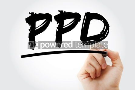 Business: PPD - Purified Protein Derivative acronym with marker concept b #17992