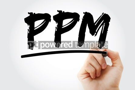 Business: PPM - Parts Per Million acronym with marker concept background #17993