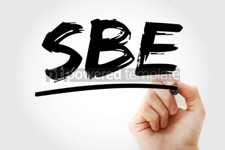 Business: SBE - Subacute Bacterial Endocarditis acronym with marker conce #17994