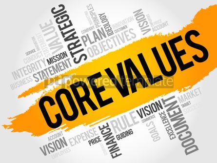 Business: Core values word cloud #18011