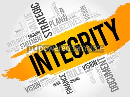 Business: Integrity word cloud #18014