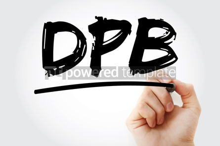 Business: DPB - Data Protection Bill acronym with marker technology conce #18036