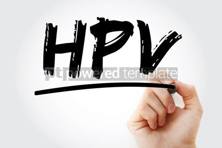 Business: HPV - Human Papilloma Virus acronym with marker medical concept #18038