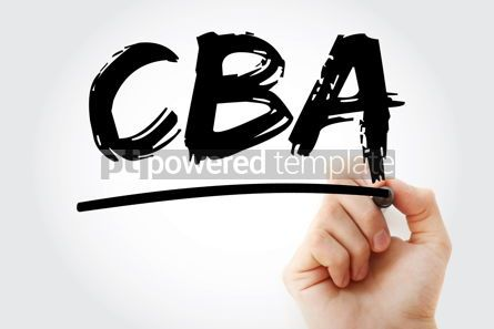 Business: CBA - Cost-benefit Analysis acronym with marker business concep #18044