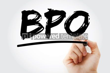 Business: BPO - Business Process Outsourcing acronym with marker concept #18046