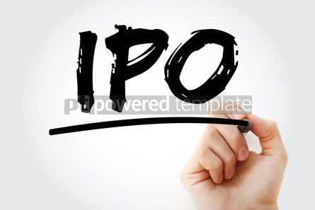 Business: IPO - Initial Public Offering acronym with marker business conc #18047