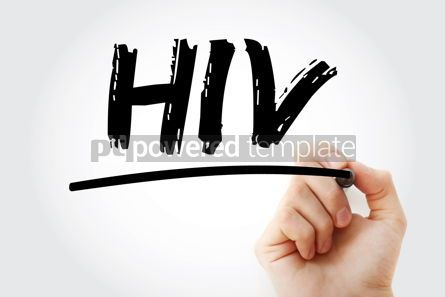 Business: HIV - Human Immunodeficiency Virus acronym with marker health c #18049