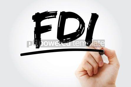 Business: FDI - Foreign Direct Investment acronym with marker business co #18058