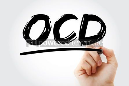 Business: OCD - Obsessive Compulsive Disorder acronym with marker health #18066