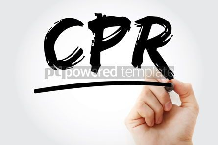 Business: CPR - Cardiopulmonary Resuscitation acronym with marker health #18077
