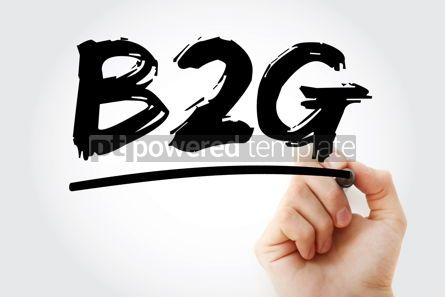Business: B2G - Business To Government acronym with marker business conce #18085