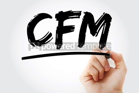 Business: CFM - Certified Financial Manager acronym with marker business #18094
