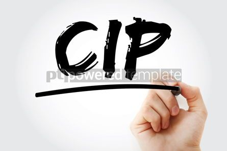 Business: CIP - Carriage and Insurance Paid acronym with marker business #18097