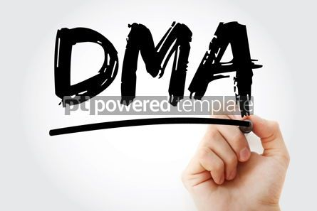 Business: DMA - Direct Market Access acronym with marker business concept #18107