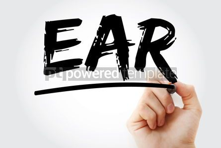Business: EAR - Effective Annual Rate acronym with marker business concep #18112
