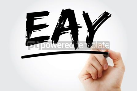 Business: EAY - Effective Annual Yield acronym with marker business conce #18113