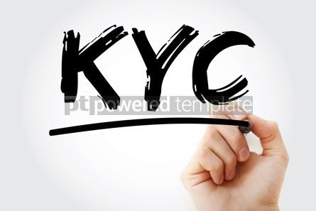 Business: KYC - Know Your Customer acronym with marker business concept b #18137