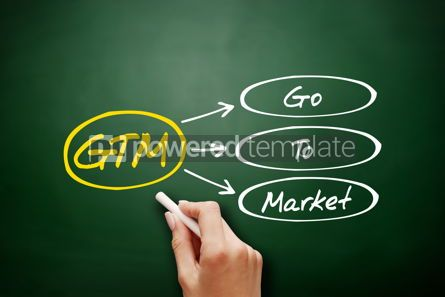 Business: Hand drawn GTM - Go To Market acronym concept #18140