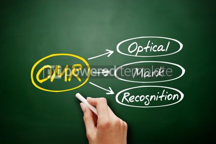 Business: Hand drawn OMR Optical Mark Recognition concept #18145