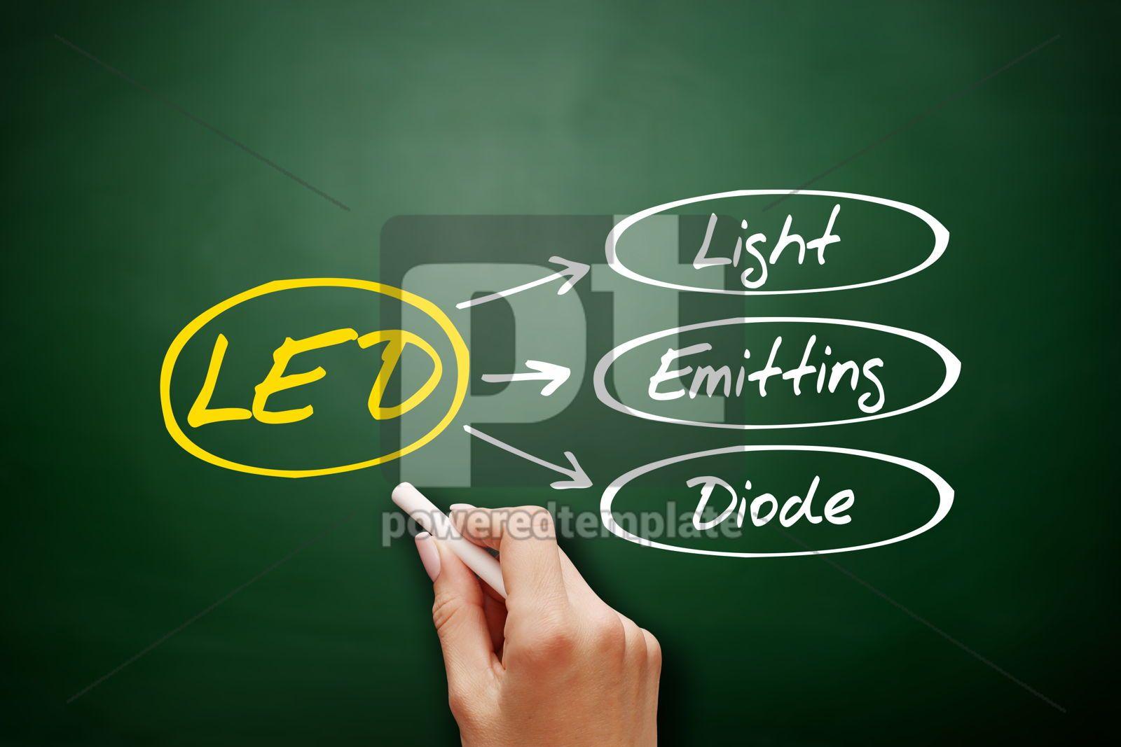 LED Light Emitting Diode technology business concept, 18152, Business — PoweredTemplate.com