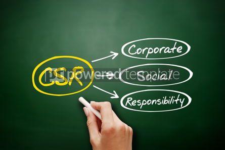 Business: Corporate Social Responsibility CSR business concept #18155