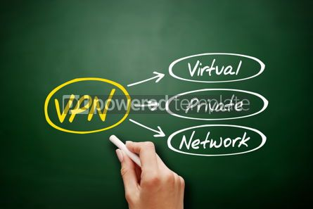 Business: VPN - Virtual Private Network acronym on blackboard #18156