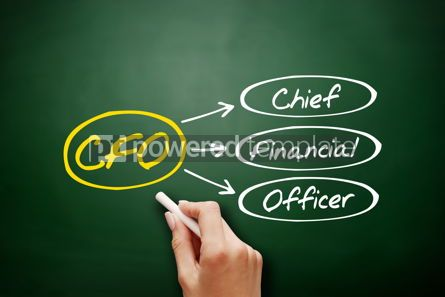 Business: CFO - Chief Financial Officer acronym on blackboard #18173