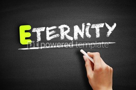 Business: Hand writing Eternity on blackboard concept background #18177