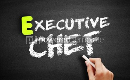 Business: Hand writing executive chef on blackboard concept background #18178
