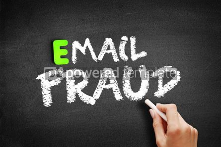 Business: Hand writing email fraud on blackboard concept background #18181