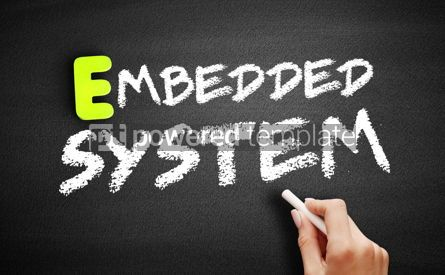 Business: Hand writing embedded system on blackboard technology concept #18182
