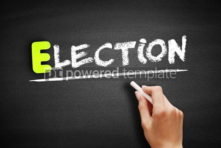 Business: Hand writing Election on blackboard concept background #18183