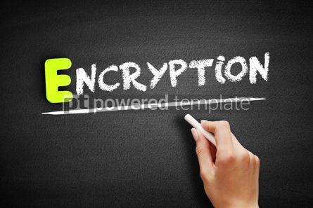 Business: Hand writing Encryption on blackboard concept background #18185