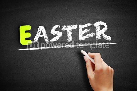 Business: Hand writing Easter on blackboard concept background #18186