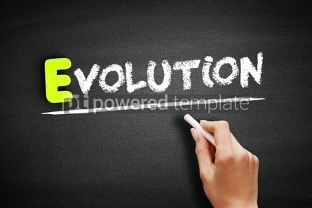 Business: Hand writing Evolution on blackboard concept background #18187