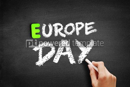 Business: Hand writing Europe day on blackboard concept background #18189