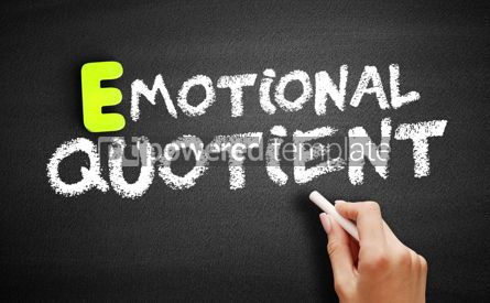 Business: Emotional Quotient on blackboard concept background #18192