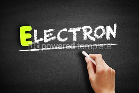 Business: Electron text on blacboard concept background #18194