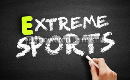 Business: Hand writing Extreme sports on blackboard sport concept #18195