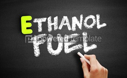 Business: Hand writing Ethanol fuel on blackboard concept background #18197