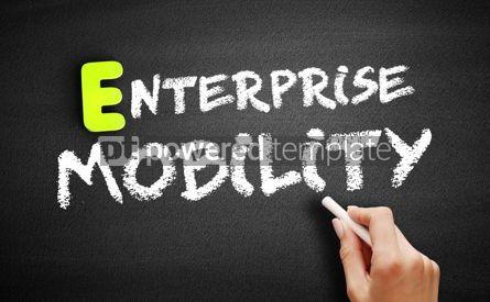 Business: Hand writing Enterprise mobility on blackboard concept backgrou #18201