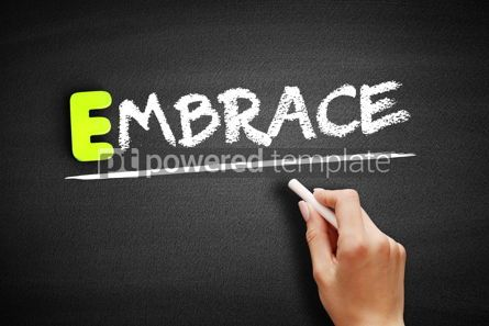 Business: Hand writing Embrace on blackboard concept background #18203