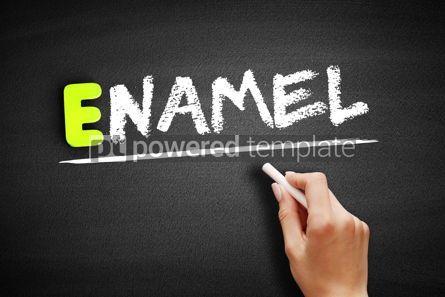 Business: Hand writing Enamel on blackboard concept background #18204