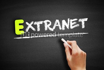 Business: Hand writing Extranet on blackboard concept background #18205