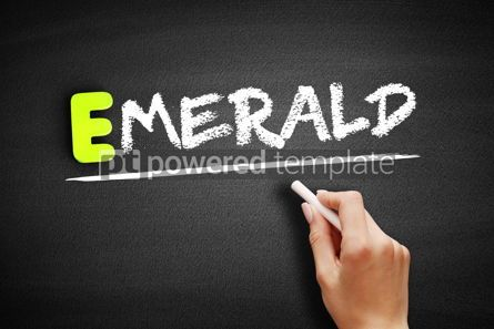 Business: Hand writing Emerald on blackboard concept background #18206