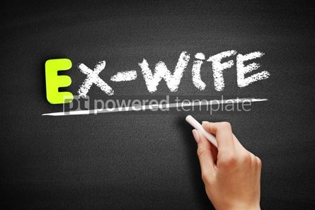 Business: Hand writing Ex-wife on blackboard concept background #18208
